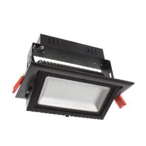 Foco Proyector LED Samsung 120lm/W Direccionable Rectangular 38W Negro 4000K 5 AÑOS GARANTIA
