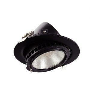 Foco Proyector LED Samsung 120lm/W Direccionable Circular 38W Negro  3000K 5 AÑOS GARANTIA