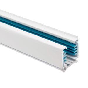 Carril Trifásico para Focos LED 2 Metros Blanco 3