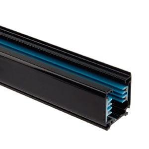 Carril Trifásico para Focos LED 1 Metro Negro