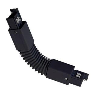 Conector Flexible para Carril Trifásico Negro