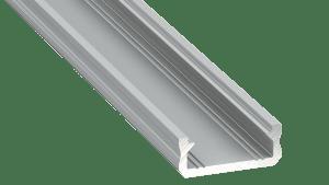 Perfil LED  LUMINES Tipo D Plata Anodizado 1 m