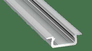 Perfil LED  LUMINES Tipo Z Plata Anodizado 1 m