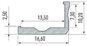 Perfil Modelo Nápoles Anodizado 2020