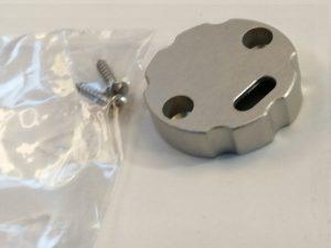 Tapa Verona Ajustable Aluminio C/Agujero Gris