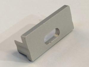 Tapa Pisa Aluminio C/Agujero Gris