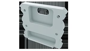 Tapa Plasencia Aluminio C/Agujero Blanco