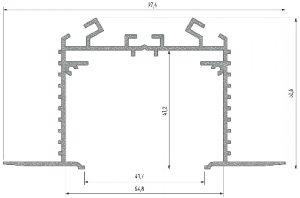 Perfil de montaje Plasencia M3 Anodizado 2020