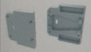 Tapa Latina Aluminio C/Agujero Blanco