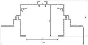 Perfil Modelo Ravenna M4 Anodizado 2020