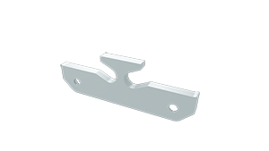 Tapa Plasencia M1 Aluminio C/Agujero Blanco