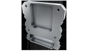 Tapa Plasencia M1 + Plasencia Aluminio C/Agujero Gris