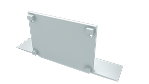 Tapa Plasencia M3 acabado completo Aluminio S/Agujero Blanco