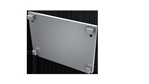 Tapa Plasencia M3 Aluminio S/Agujero Gris