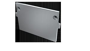 Tapa Plasencia M4 Aluminio S/Agujero Gris