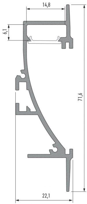 Perfil Modelo Catania Anodizado 2020
