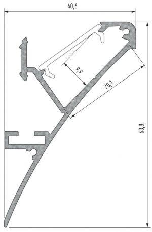 Perfil Modelo Ferrara Anodizado 2020