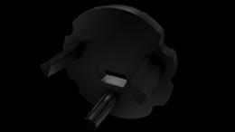 Tapa Monopoli ABS micro perforable Negro