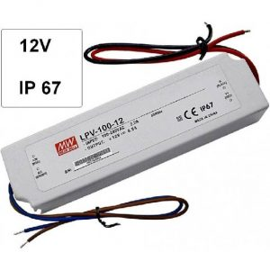 Fuente de alimentación LED IP67- 100W 12V 8,4A Compacta