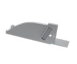 Tapa Novara Aluminio C/Agujero Gris Derecha