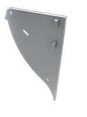 Tapa Pescara Aluminio C/Agujero Gris Derecha