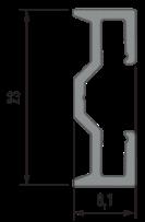 Perfil de Montaje Trento – Sparo Anodizado 2020